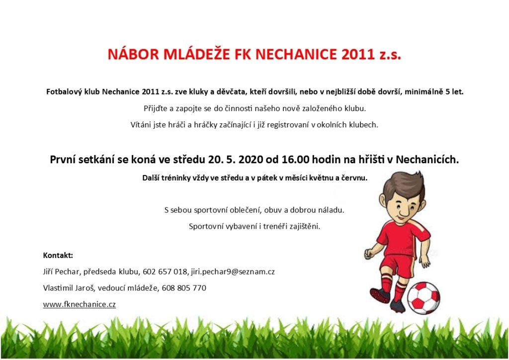 Nábor mládeže FK Nechanice